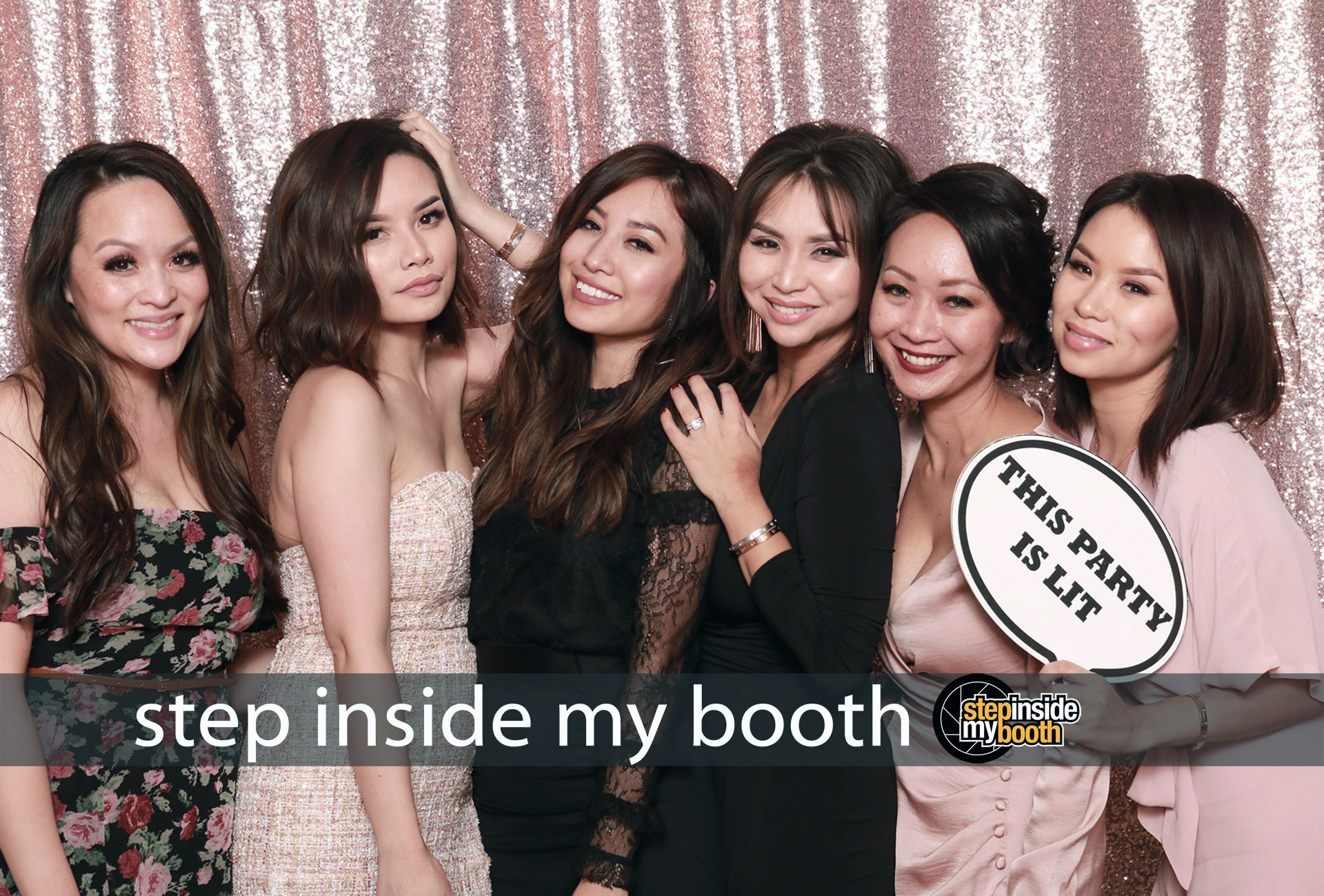 Step Inside My Booth - Stephanie and Gerard's Wedding on November 18, 2018. Studio quality photos in Step Inside My Booth photo booth.