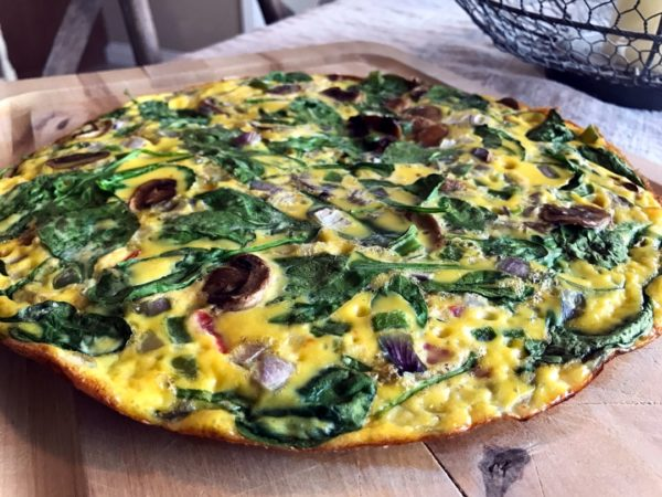 Easy Vegetable Frittata - Sister Spice Recipe