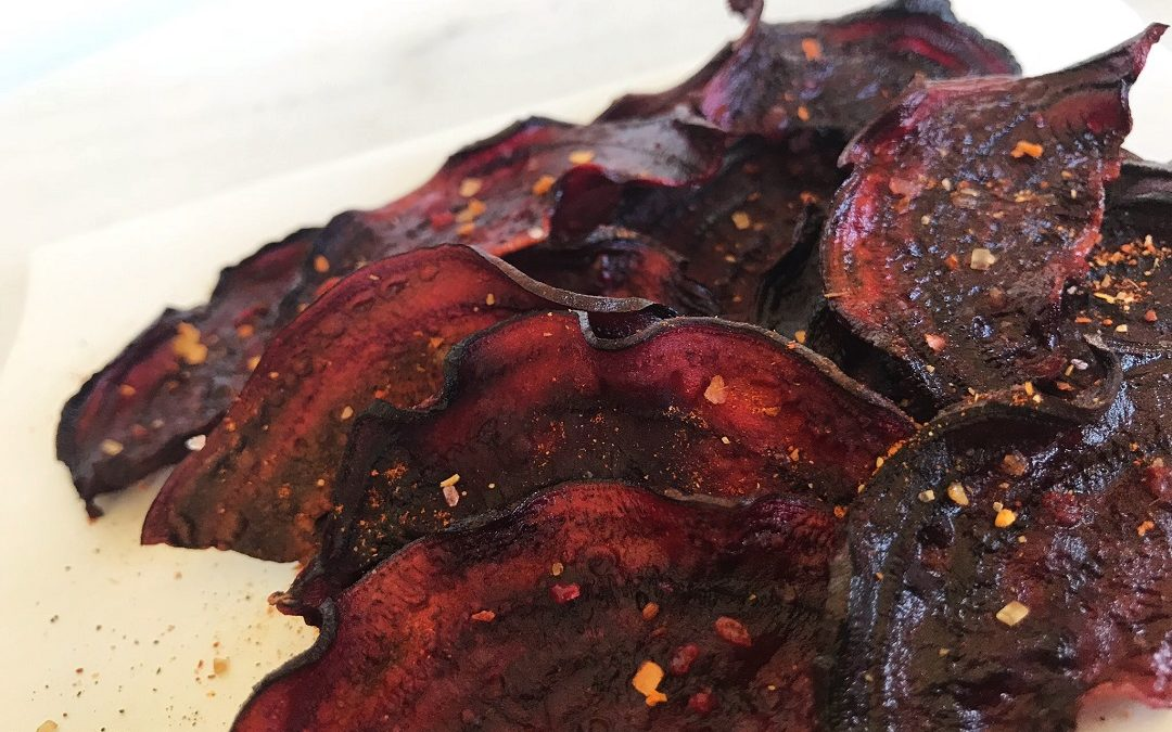 Beet Chips: Barbecue Baked
