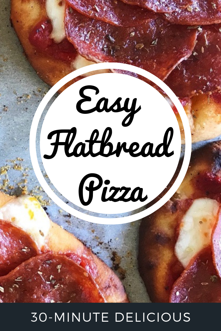 Pin - Easy Flatbread Pizza | Sister Spice Recipe