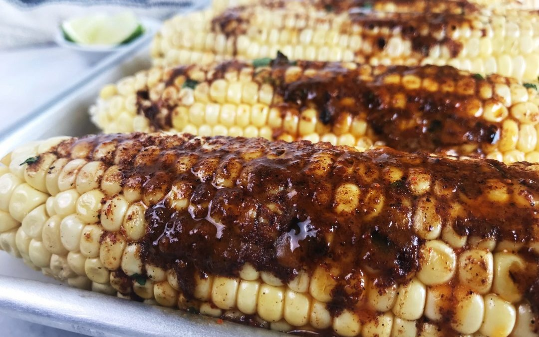 Grilled Corn on the Cob with Chili Lime Butter