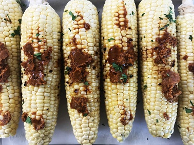 Grilled Corn on the Cob with Chili Lime Butter - Step 4   Sister Spice Recipes