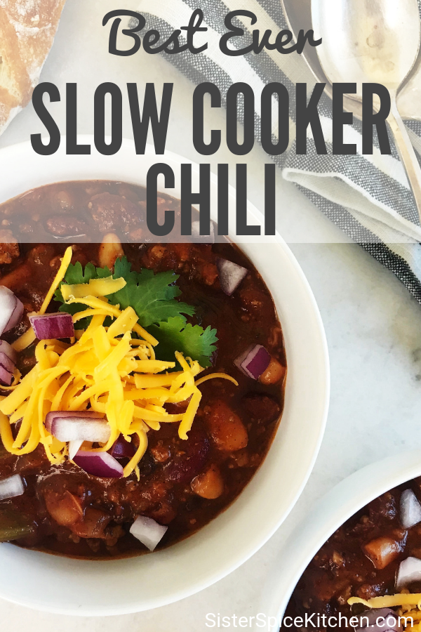 Slow Cooker Chili Recipe | Sister Spice
