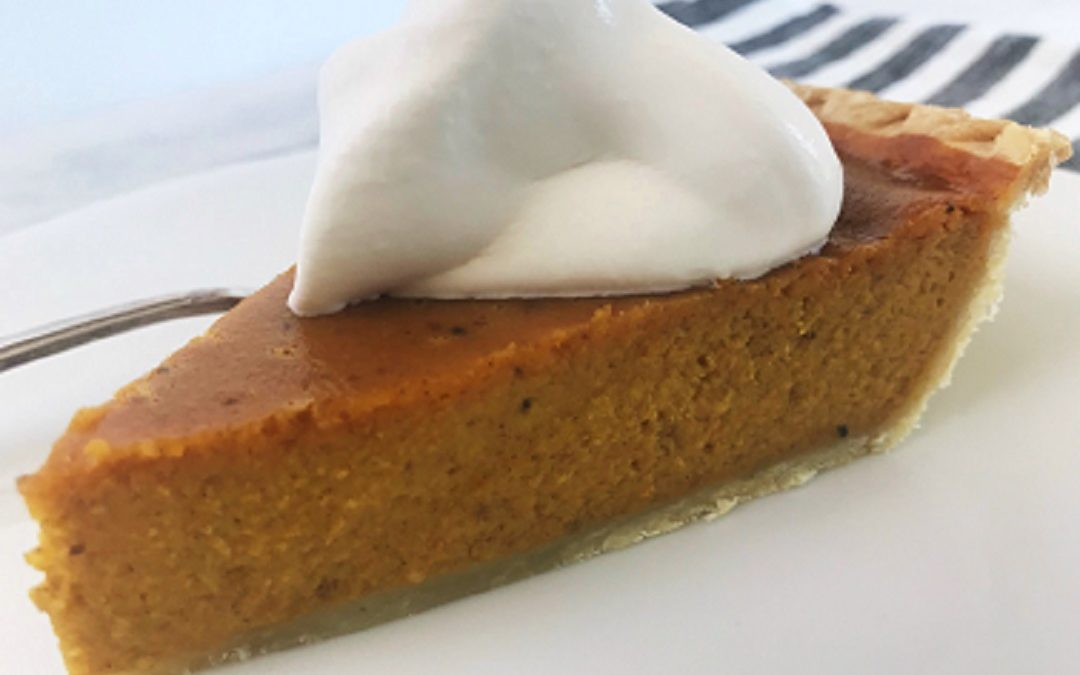 Easy Pumpkin Pie with Bourbon Whipped Cream