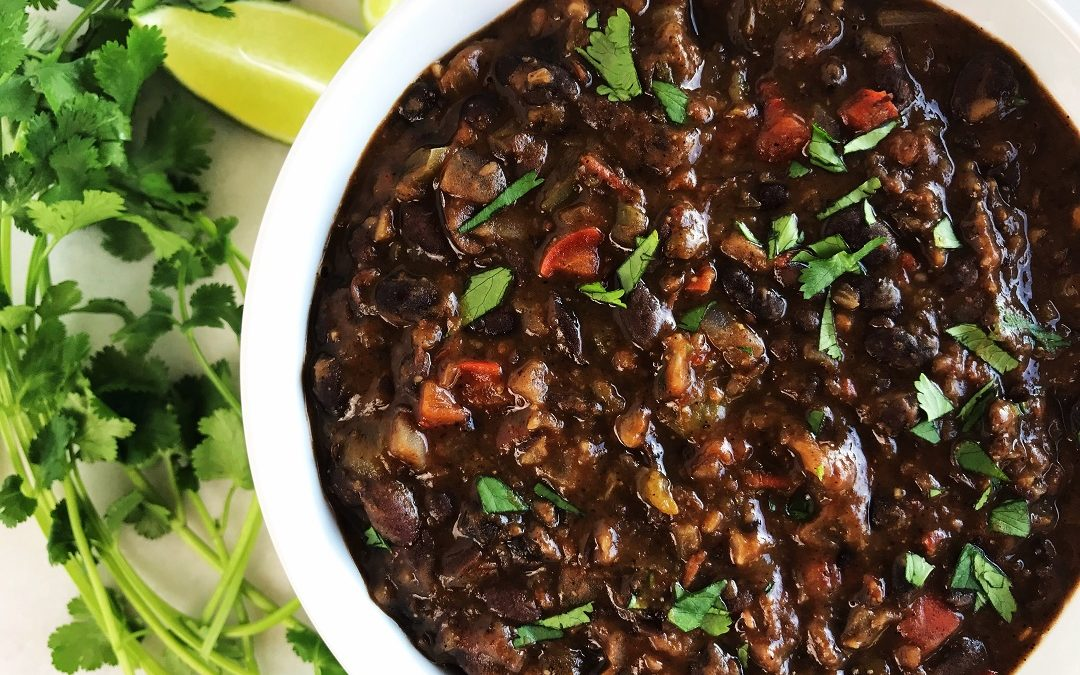Southwestern Black Beans, Vegetarian Style