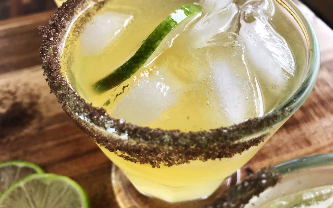 Cadillac Margarita on the Rocks with Smoked Sea Salt