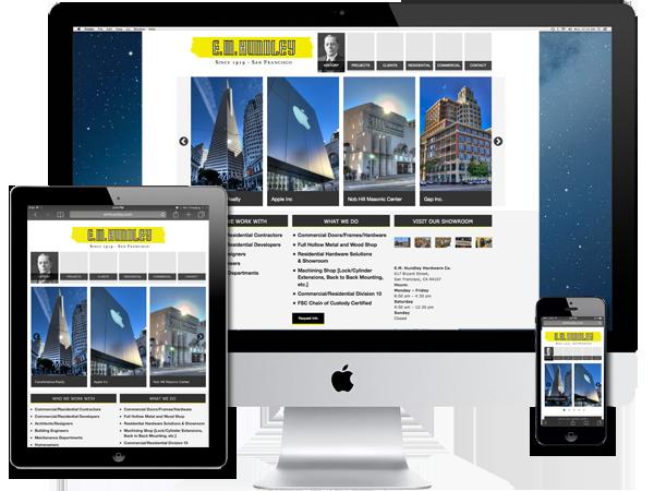 Commercial Doors/Frames/Hardware/Showroom Website Design