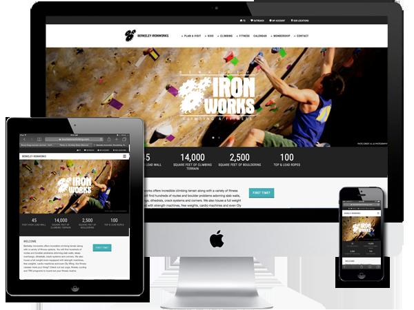 Indoor Rock Climbing and Fitness Gym Website Design