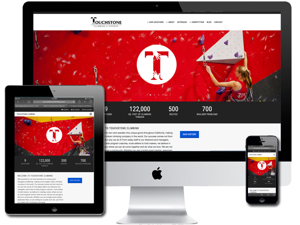 Multi Location - Indoor Rock Climbing and Fitness Gyms Website Design