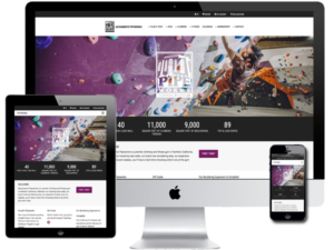 Indoor Rock Climbing Gym Website Design