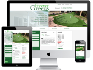 Artificial Lawns & Putting Greens Website Design
