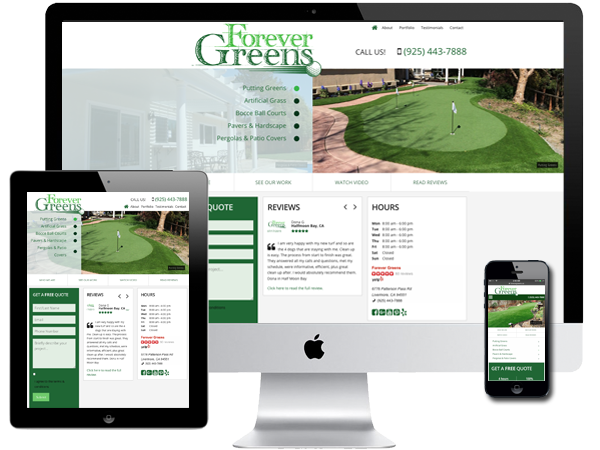 Artificial Lawns & Putting Greens Website Design