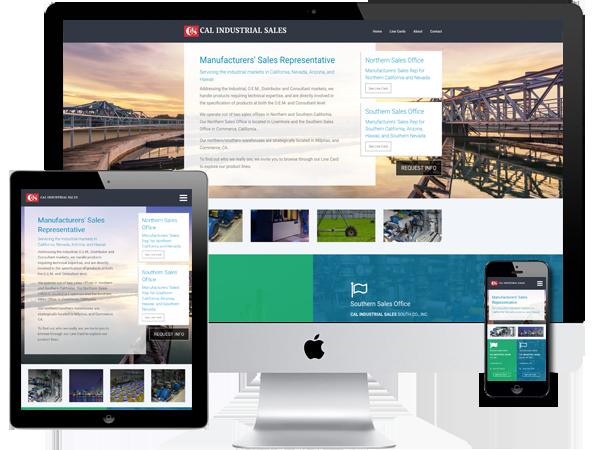 Manufacturer's Sales Reps Website Design