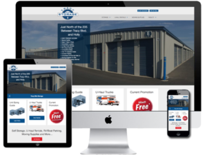 Self Storage and Moving Truck Rentals Website Design