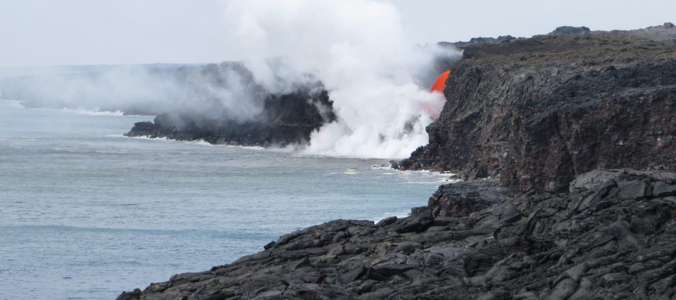 Ocean entry of Kamokuna volcano