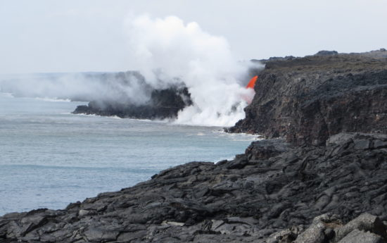 Ocean entry of Kamokuna volcano