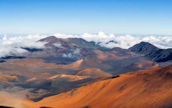 Haleakala crater, panoramic view