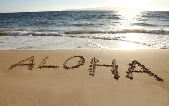Aloha on the beach