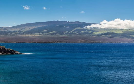 Wide view of the island of Maui