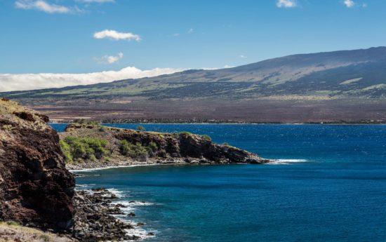 Haleakala coastline as seen on Maui.