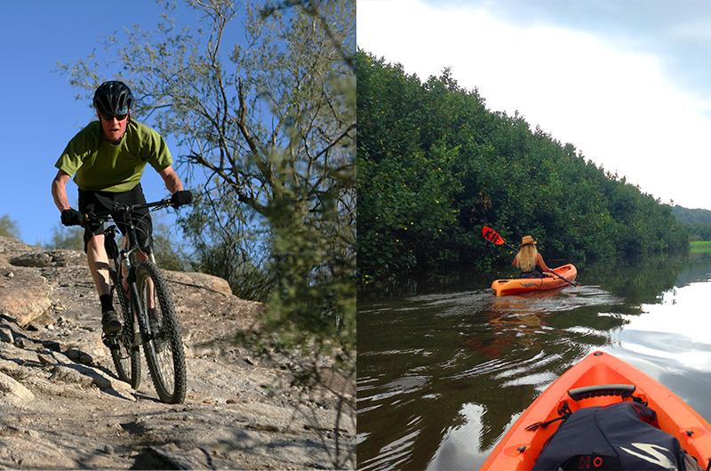 Kayaking and rafting adventure tourism