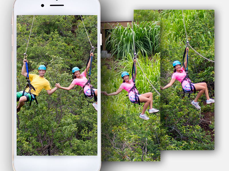 Use burst photo mode on your phone's camera to take lots of pictures in a row