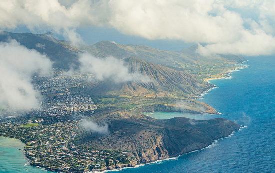 Sky view of Hawaii