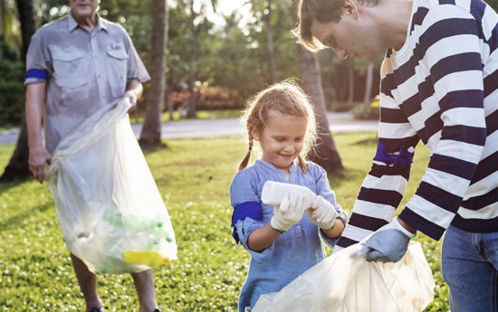 Clean up your community with your family