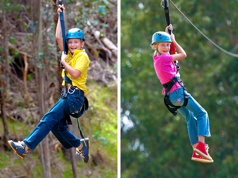Make sure you child is old enough to zipline with us