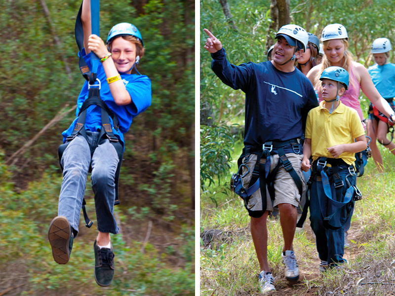 people have an amazing time ziplining with us in Hawaii