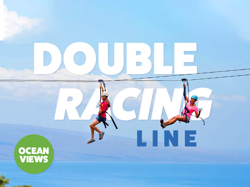 The most iconic part of this zipline location is our Double Racing line that is part of our 11-Line Adventure Tour.