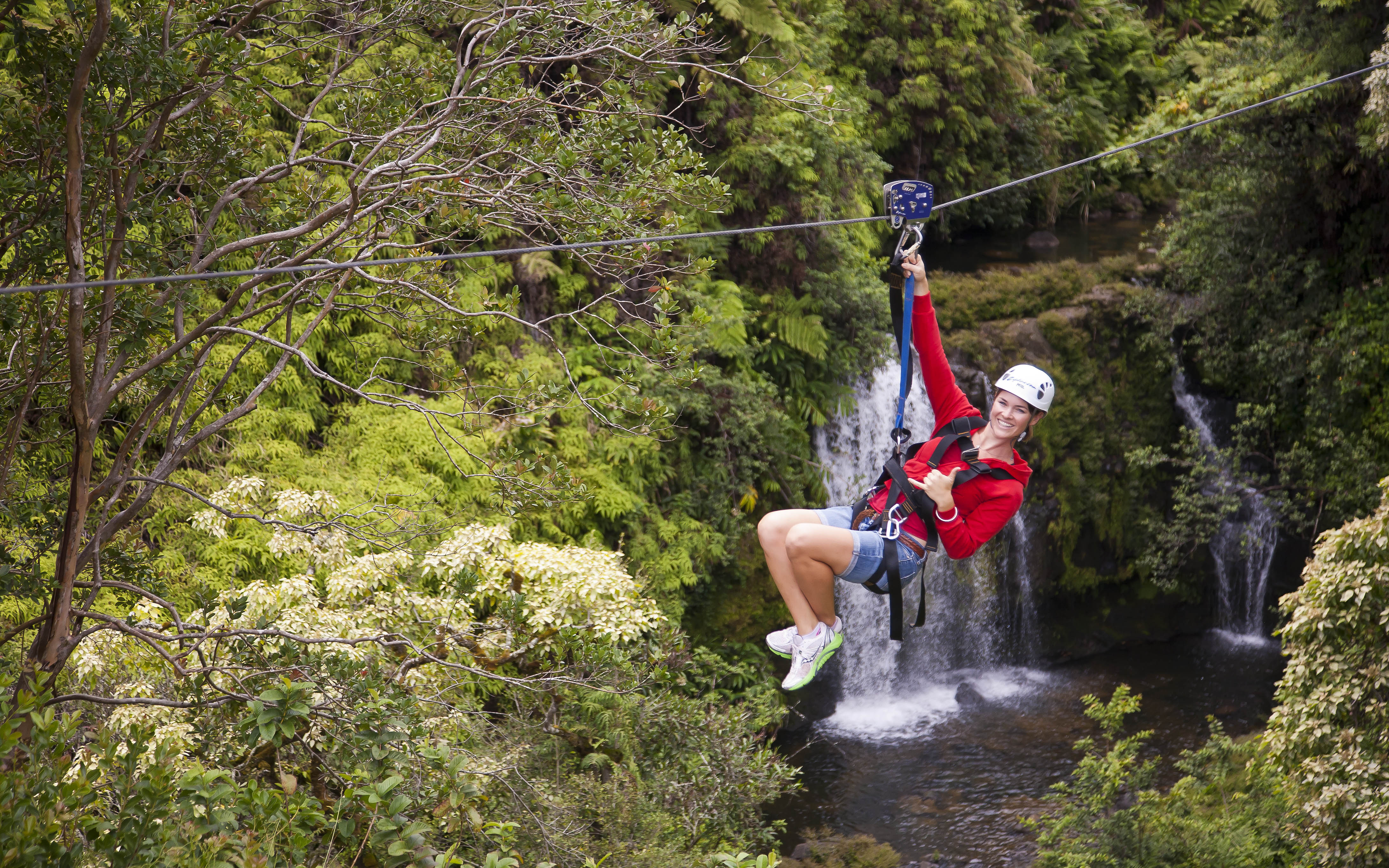 big island zipline tour in akaka falls hawaii zipline com