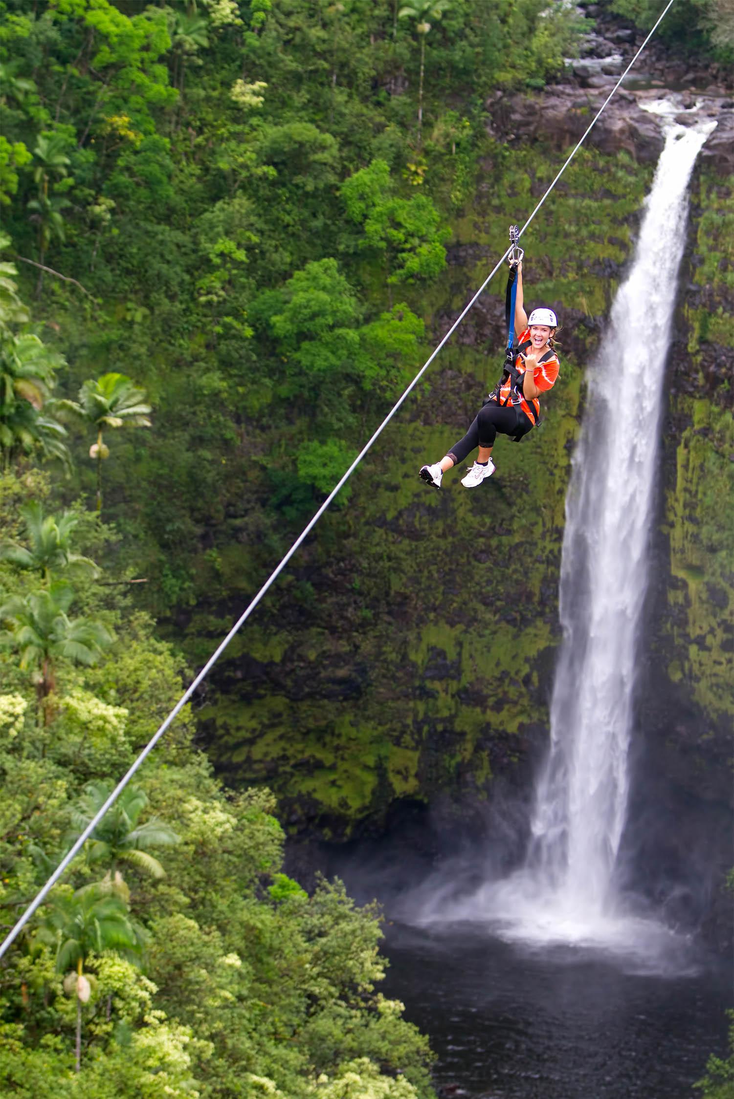 big island zipline tour in akaka falls hawaii zipline com