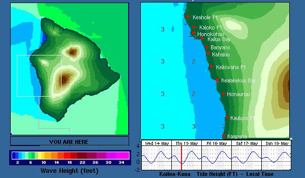 Hawaii Kona Nearshore Swell Chart Surfline