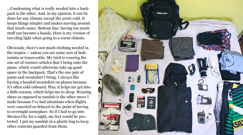 Travel Tips Packing Light Surfline Com