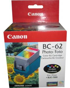 CANON BC-62E (0920A003AA) Photo Ink Cartridge + Printhead and BC-60 Ink Tank