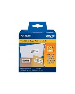 BROTHER DK-1209 Label Printer Labels 1-1/7 in. x 2-3/7 in. 800pcs