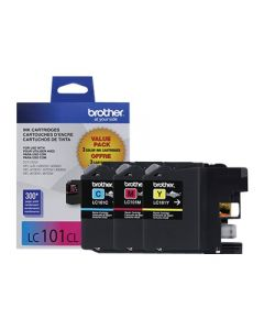 BROTHER  LC-101CL Color Ink Cartridges 3 Pack