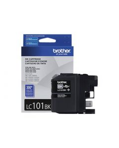 BROTHER LC-101BK Black Ink Cartridge 300 page yield