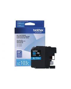 BROTHER LC-103C XL High Yield Cyan Ink Cartridge 600 page yield