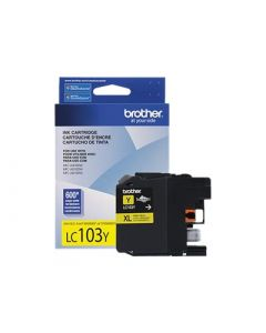 BROTHER LC-103Y XL High Yield Yellow Ink Cartridge 600 page yield