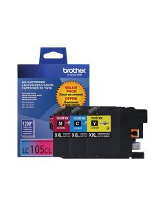 BROTHER LC-105CL XXL Color Ink Cartridges 3 Pack