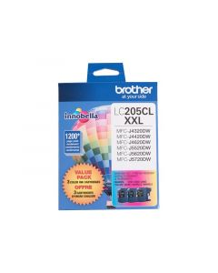 BROTHER LC-205CL XXL Color Ink Cartridges 3 Pack