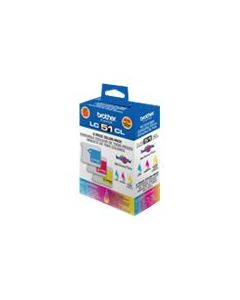 BROTHER LC-51CL Color Ink 3-Pack CMY 400p ea.