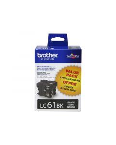 BROTHER LC-61BK Black Ink 2-Pack 450p ea.