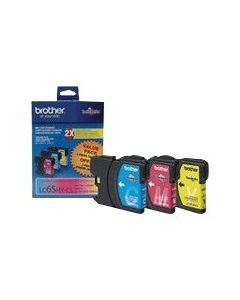 BROTHER LC-65HY-CL Color High Yield Ink 3-Pack CMY 750p ea.