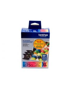 BROTHER LC-75CL XL Color High Yield Ink 3-pack CMY 600p ea.