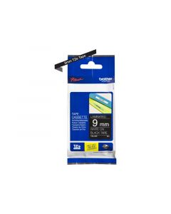 BROTHER TZe-325 White on Black Label Tape 3/8 in. x 26.2 ft.