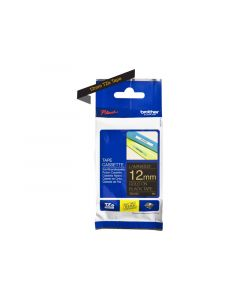 BROTHER TZe-334 Gold on Black Label Tape 1/2 in. x 26.2 ft.