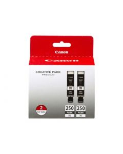 CANON PGI-250XL (6432B004) Black Dual Pack Ink Cartridges